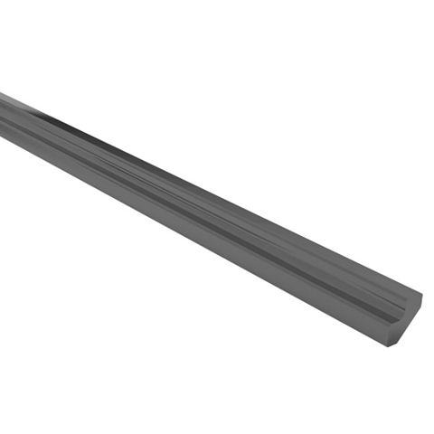 Cooke & Lewis Curved External Tall Wall Filler Post Raffello High Gloss Anthracite Slab (H)895mm (W)33.5mm