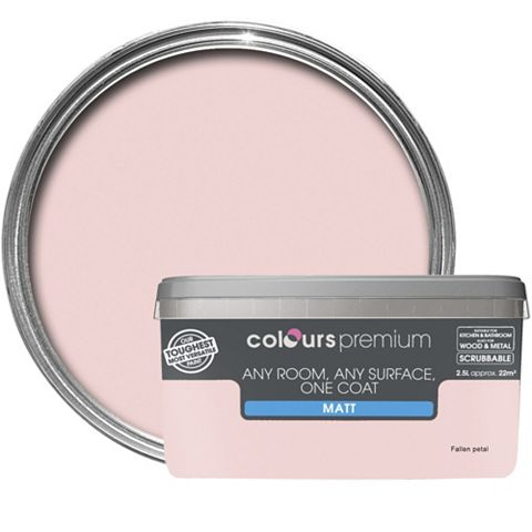 Colours Premium Fallen Petal Matt Emulsion Paint 2.5L