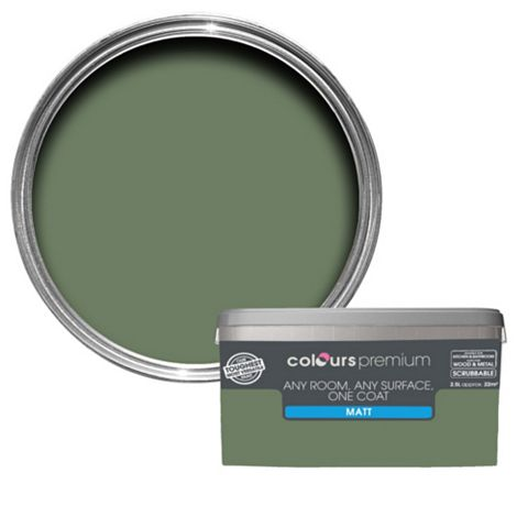 Colours Premium Any Room One Coat Lily Pad Matt Emulsion Paint 2.5L