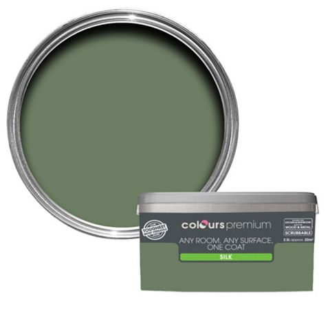Colours Premium Any Room One Coat Lily Pad Silk Emulsion Paint 2.5L