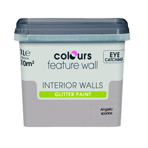 Colours Feature Wall Angelic Sparkle Glitter Emulsion Paint 1L