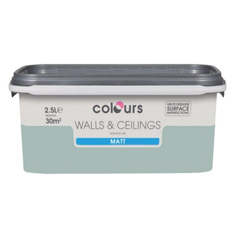 Colours Eau De Nil Matt Emulsion Paint 2.5L