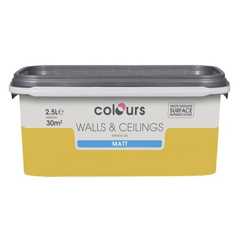 Colours Golden Rays Matt Emulsion Paint 2.5L
