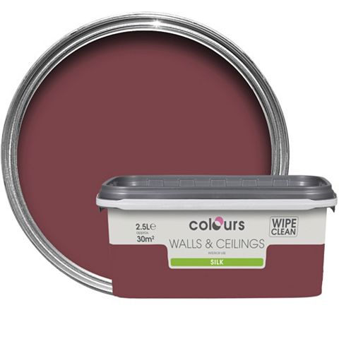 Colours Merlot Silk Emulsion Paint 2.5L