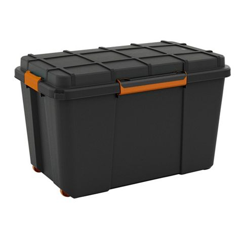 Form Flexi-Store Black 106L Plastic Waterproof Storage Box