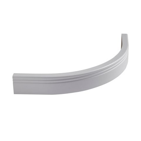 Cooke & Lewis White Classic Curved External Cornice/Pelmet, 18mm