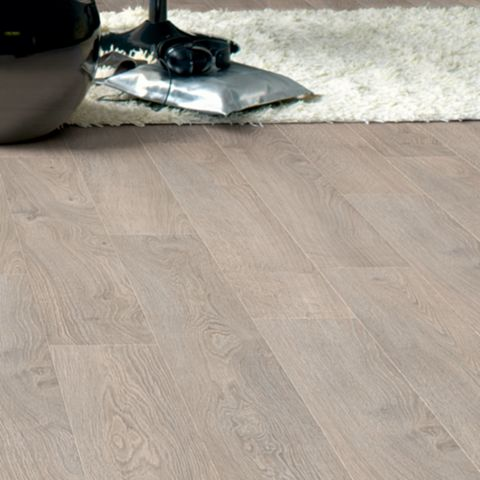 Calando Light Grey Oak Effect Laminate Flooring 1.59 m² Pack