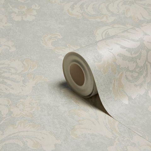 Decadent Blue Fresco Trail Metallic Effect Wallpaper