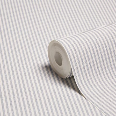 Thin Stripe Blue Wallpaper