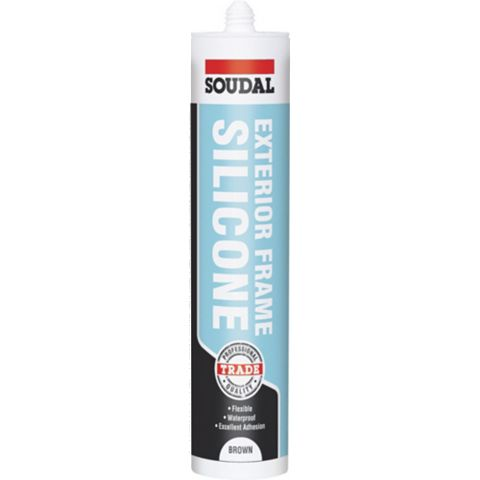 Soudal 121654 Sealing & Filling Gaps & Cracks Glazing & Frame Sealant Brown, 300ml