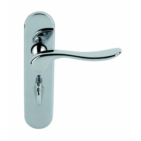 Urfic Hampshire Polished Bathroom Door Handle, Pack of 2