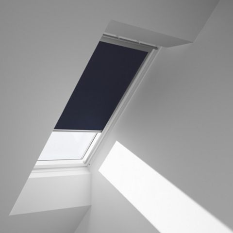 Velux Blackout Manual Controlbar Roof Window Blind DKL C02 1100, Dark Blue