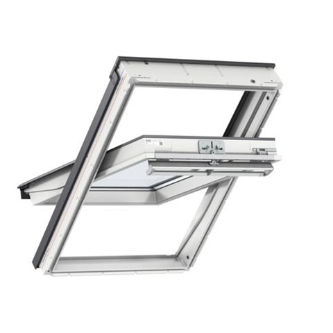 Velux White Timber Centre Pivot Roof Window 1600 x 940 mm