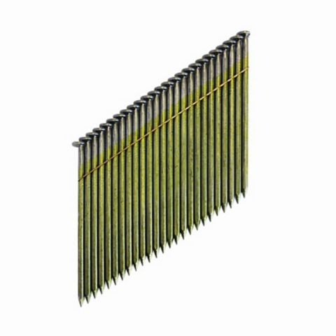 DeWalt 75mm Galvanised Collated Framing Stick Nails, DNW28R75G12E, Pack of 2200