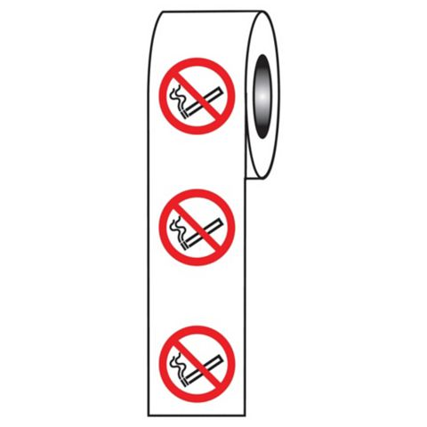 No Smoking Symbol Adhesive Labels x 40 mm