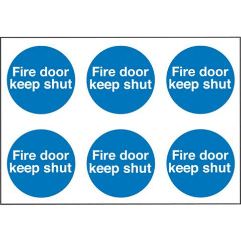 Vinyl Fire Safety Stickers (Dia)100mm