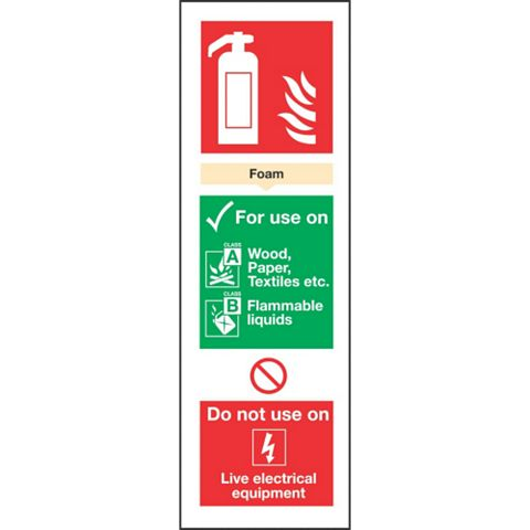 Plastic Extinguisher Sign (H)280mm (W)90mm