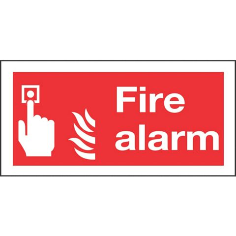 Plastic Fire Safety Sign (H)100mm (W)200mm
