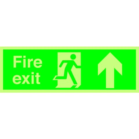 Durable Plastic Exit Up Sign (H)150mm (W)450mm