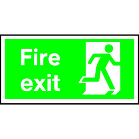 Plastic Fire Safety Sign (H)150mm (W)300mm