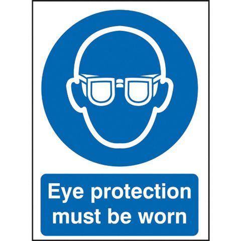 1.2mm Rigid Polypropylene Eye Protection Must Be Worn Sign 148 mm x 210 mm