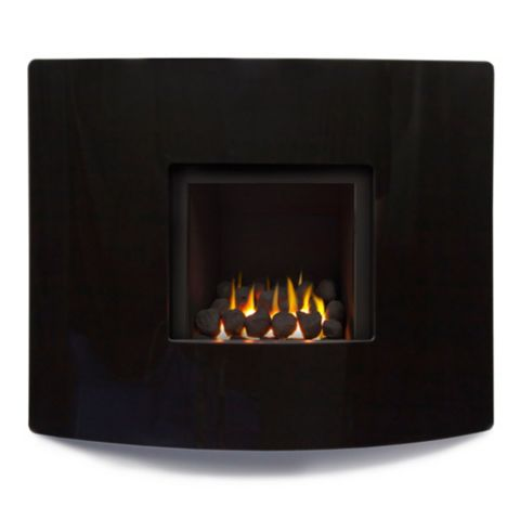 Ignite Pinnacle 950 Black Slide Control Inset Wall Mounted Gas Fire