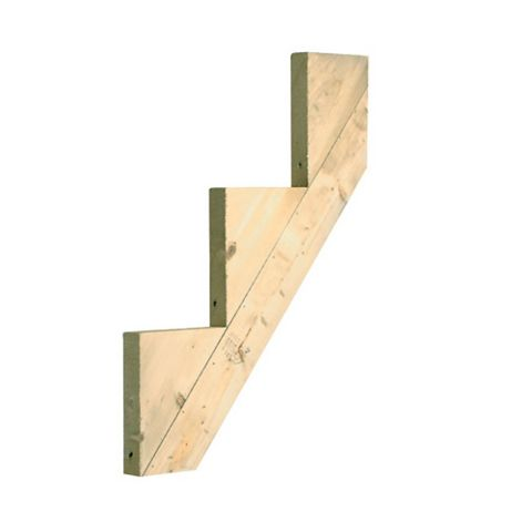 Softwood 3 Step Riser, (W)220mm (D)40mm