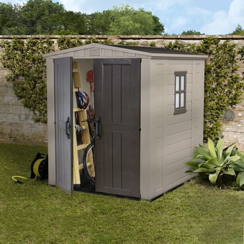 6X6 Apex Plastic Shed - Assembly Required