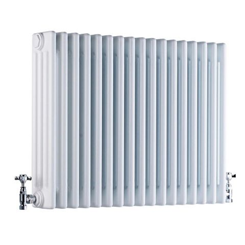 Acova 4 Column Radiator, White (W)628 mm (H)600 mm