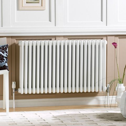 Acova 4 Column Radiator, White (W)1226 mm (H)600 mm