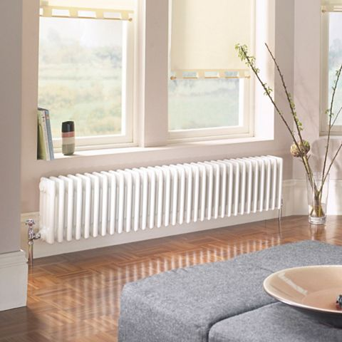 Acova 4 Column Radiator, White (W)812 mm (H)300 mm