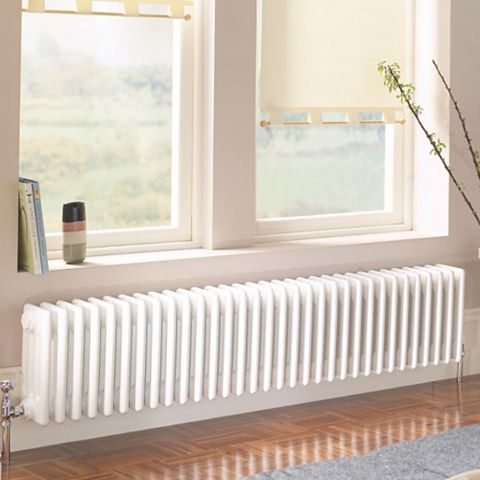 Acova 4 Column Radiator, White (W)1042 mm (H)300 mm