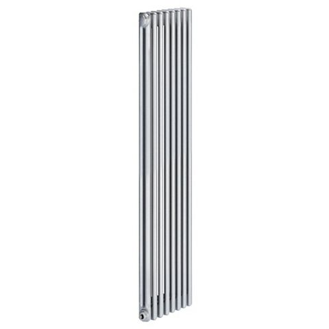 Acova 2 Column Radiator, Silver (W)398 mm (H)2000 mm