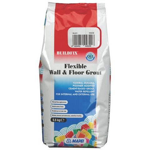 Mapei Flexible Black Wall & Floor Grout (W)2.5kg