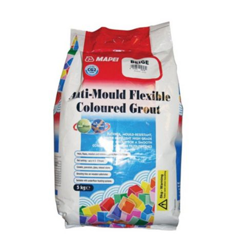Mapei Beige Anti-Mould Flexible Grout (W)5kg