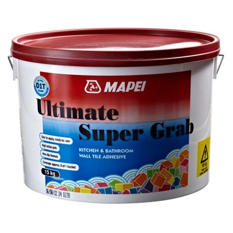 Mapei Ultimate Supergrab Ready Mixed Wall Tile Adhesive 15kg