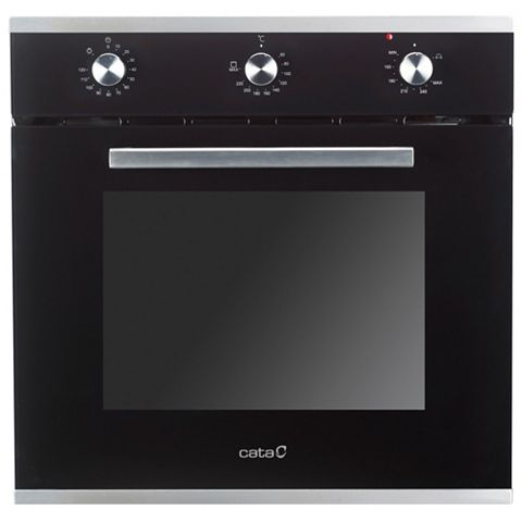 Cata OVG60SS Black Gas Single Oven