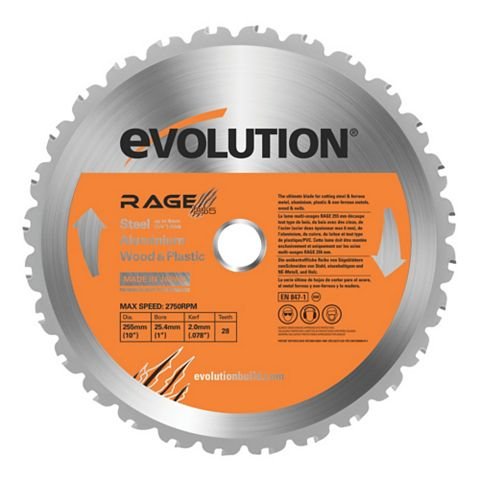 Evolution 28T Mitre Saw Blade (Dia)255mm