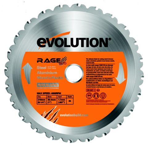 Evolution 24T Circular Saw Blade (Dia)210mm