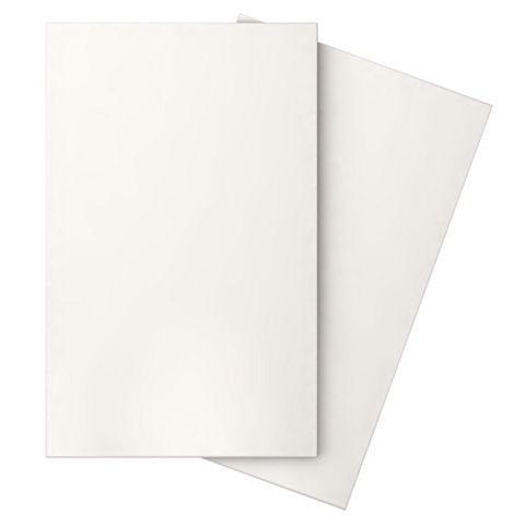 Iris White Ceramic Wall Tile, Pack of 10, (L)400mm (W)250mm