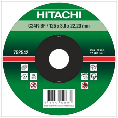 Hitachi (Dia)115mm Continuous Depressed Centre Abrasive Disc