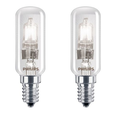 Philips Small Edison Screw Cap (E14) 28W Halogen Appliance Light Bulb, Pack of 2