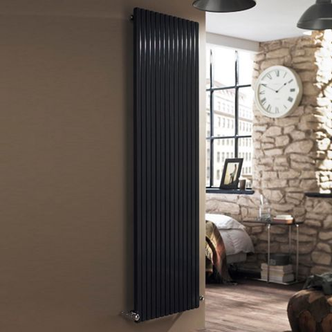 Ximax Supra Square Vertical Radiator Anthracite, (H)1800 mm (W)470mm