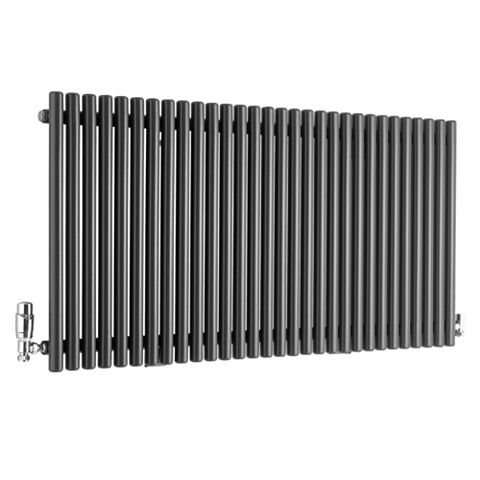 Ximax Supra Horizontal Radiator Anthracite, (H)600 mm (W)1190mm