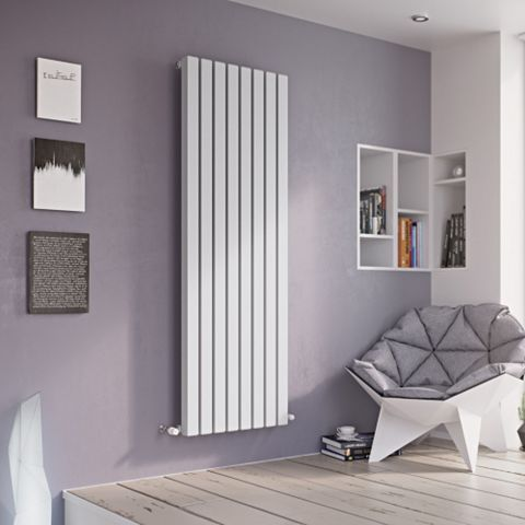 Ximax Vulkan Square Vertical Radiator White, (H)600 mm (W)585mm