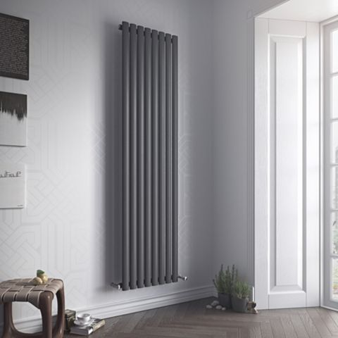 Ximax Fortuna Vertical Radiator Anthracite, (H)1800 mm (W)590mm