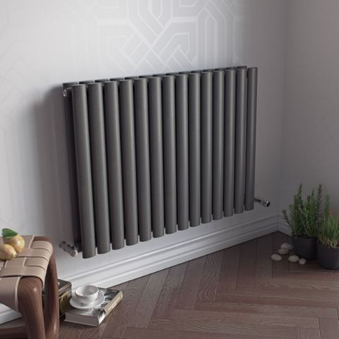 Ximax Fortuna Duplex Vertical Radiator Anthracite, (H)600 mm (W)826mm