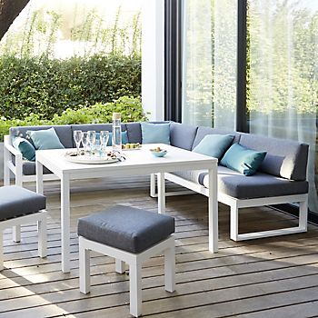 Batang garden furniture in the modern garden