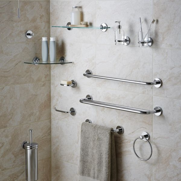 Wall mounted bathroom accessories. Bathroom Accessories   Bathroom Fittings   Fixtures   DIY at B Q