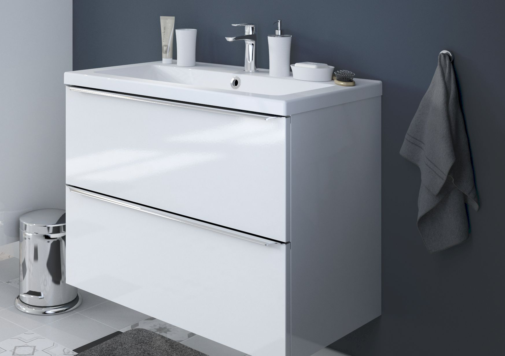 Amazing Vetro White Gloss Fitted Bathroom Furniture  Roper Rhodes